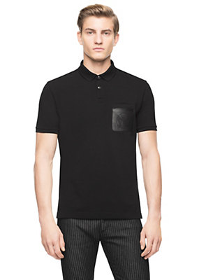 Versace Men Medusa Pocket Pique Polo
