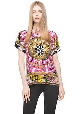 Versace Women Psychedelic Medusa Oversized TShirt