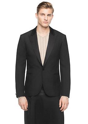 Versace Men Silk Shantung Tuxedo Jacket