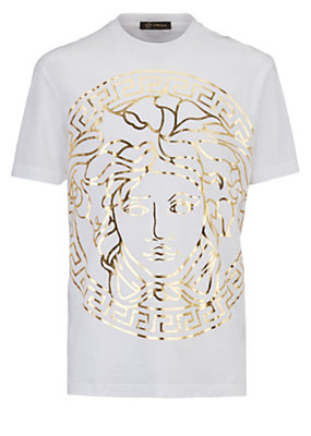 Versace Men Medusa Head embossed t-shirt