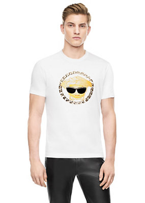 Versace Men Medusa Emoji Cotton-Jersey T-Shirt
