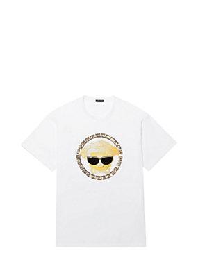 Versace Men Medusa Emoji Cotton-Jersey T-Shirt