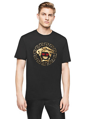 Versace Medusa Emoji Cotton T-Shirt