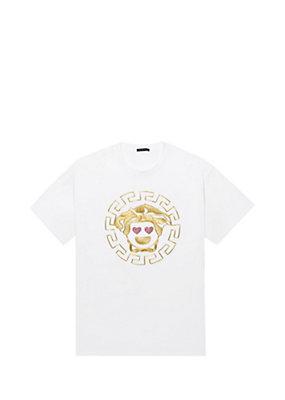 Versace Femme T-shirt yeux de Medusa en cœur