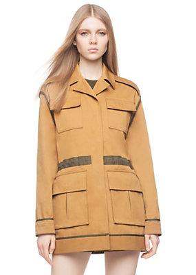 Versace Women Cotton Gabardine Utility Jacket