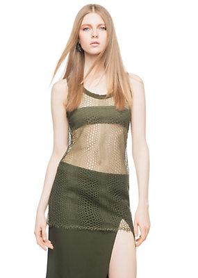 Versace Women Chantilly Lace Vest Top