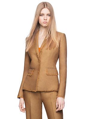Versace Women Tailored Silk Blend Utility Jacket