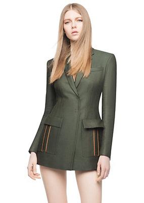 Versace Women Silk-Blend Tailored Jacket