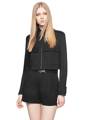 Versace Women Bow Cut-Out Cropped Jacket