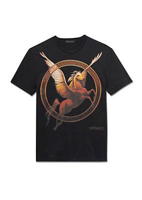 Versace Men Men Lil Buck Crew Neck T-Shirt