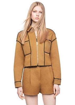 Versace Women Stretch Gabardine Piped Jacket