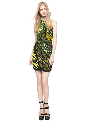 Versace Women Wild Patch Embroidered Mini-Dress