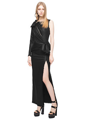 Versace Women Bow Lurex-Blend Cocktail Dress