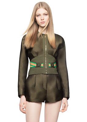 Versace Women Medusa Band Silk-Blend Jacket