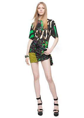 Versace Women Wild Patch Silk Jersey Tunic
