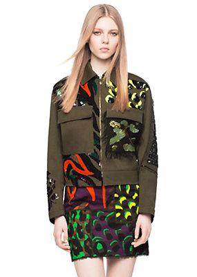 Versace Women Wild Patch Cotton Gabardine Jacket