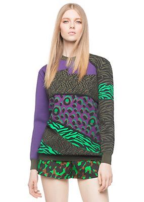 Versace Women Wild Patch Jacquard Sweater