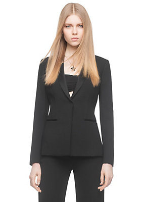 Versace Women Cady Tuxedo Blazer