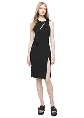 Versace Women Bow Stretch Jersey Cocktail Dress
