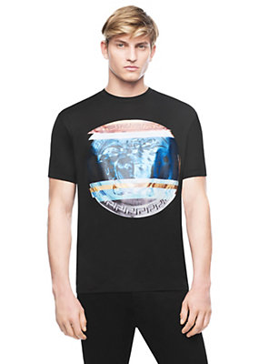Versace Men Art Medusa Cotton Jersey T-Shirt