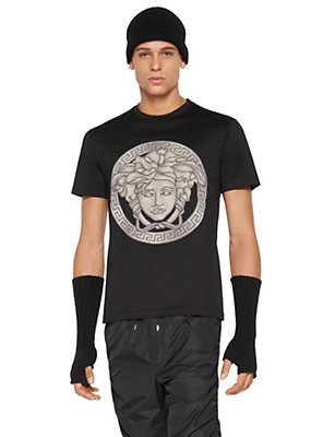 Versace Men Medusa Greca Cotton T-Shirt