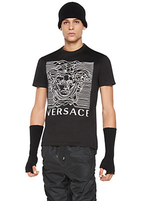 Versace Men Versace Medusa Cotton T-Shirt