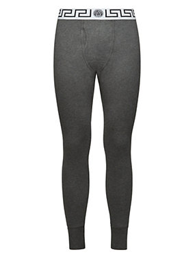 Versace Men Stretch Cotton Long Johns