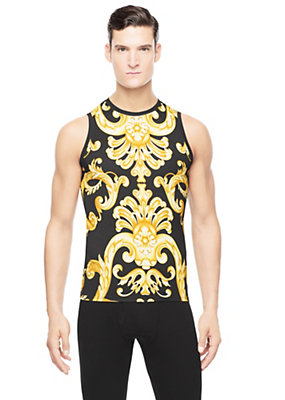 Versace Men Iconic Baroque Print tank top