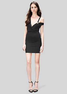 Versus Versace Women Asymmetric Lion Head Mini-Dress