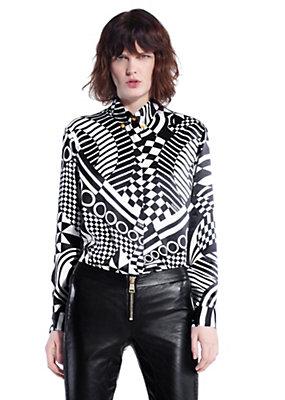 Versus Versace mujer OP ART camisa de seda