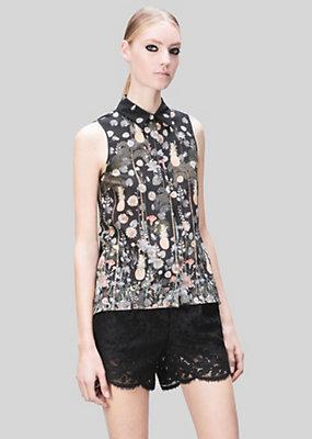 Versus Versace Women Acquarello Print Silk Shirt