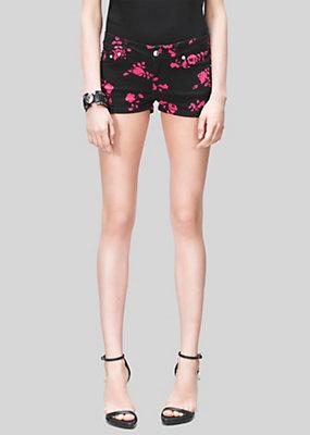 Versus Versace Women Roses Jean Shorts