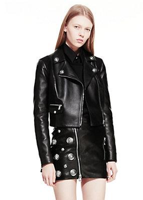 Versus Versace Women Leather studded biker jacket