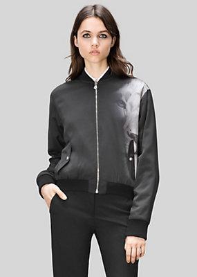 Versus Versace Women Macro Lion Print Bomber Jacket