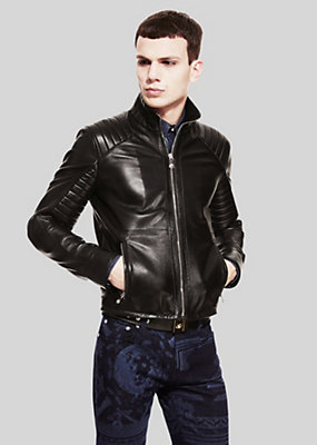 Versus Versace Men Stitch detail biker jacket