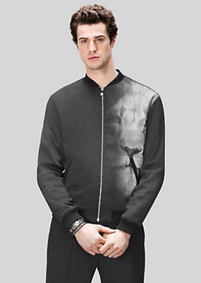 Versus Versace Men Macro Lion Bomber Jacket