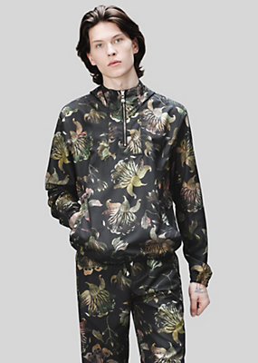 Versus Versace Men Acquarello print hooded jacket