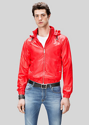 Versus Versace Men Lion Head Nylon Jacket