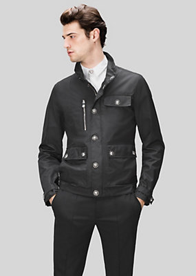 Versus Versace Men Canvas jacket with lion button deta