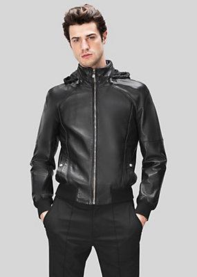 Versus Versace Men Leather Windbreaker