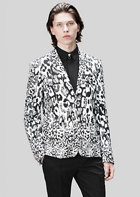 Versus Versace Men Tailored Leopard Print Blazer
