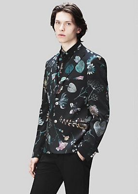 Versus Versace Men Acquarello Print Tailored Blazer