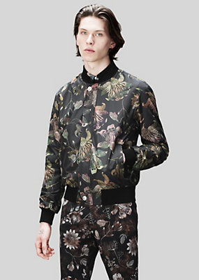 Versus Versace Men Acquarello print bomber jacket