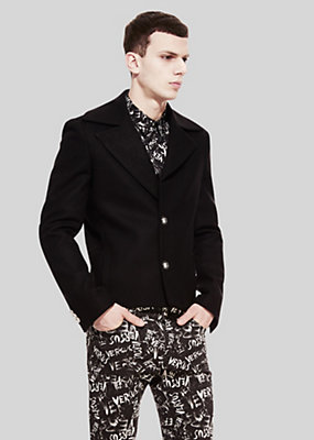 Versus Versace Men Print border lapel jacket