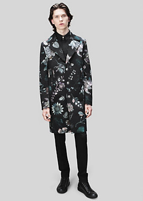 Versus Versace Men Acquarello Print Overcoat