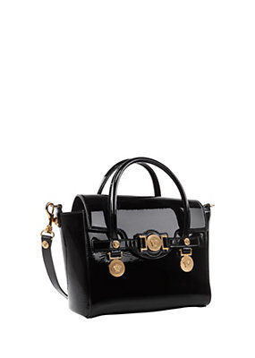 Versace Women Small Signature Patent Handbag