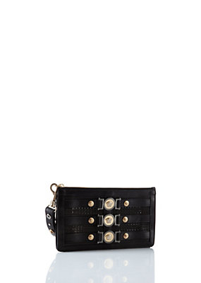 "Versace Women ""Signature"" Icon Perforated Clutch"