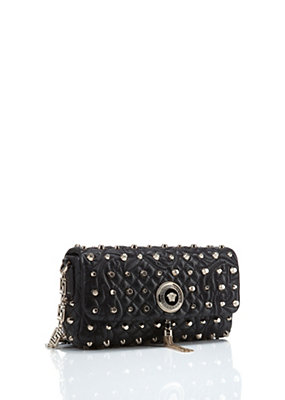 "Versace Women ""Vanitas"" Shoulder Bag with Studs"
