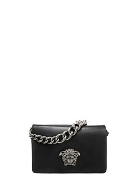Versace Women Sultan Leather Shoulder Bag