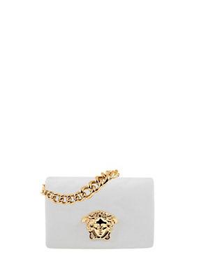 Versace Women Nappa Leather Palazzo Shoulder Bag